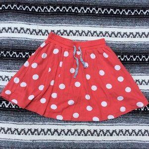 Mini Boden Polka Dot Comfy Skirt w/ Shorts 11-12